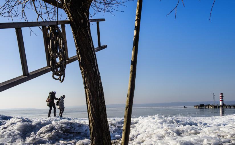 Eisschollen in Pannonien